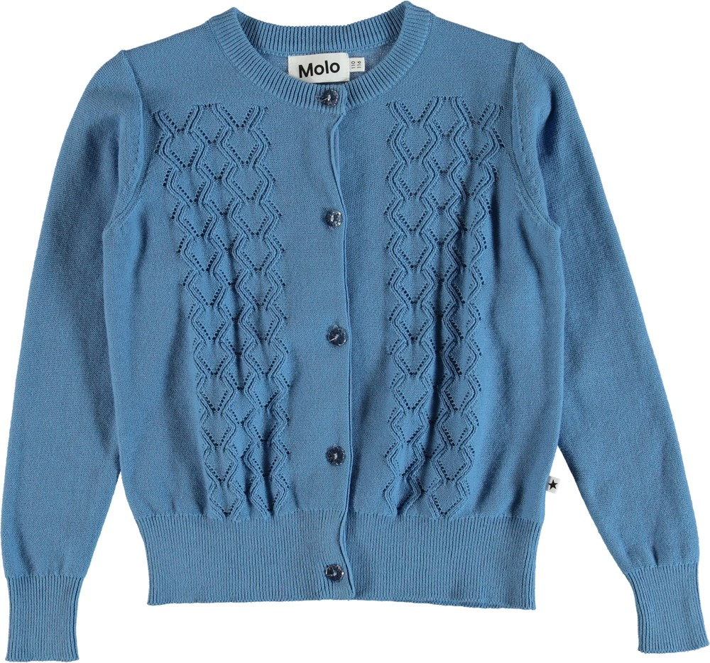 Gwenda - Blue Ribbon - Cardigan