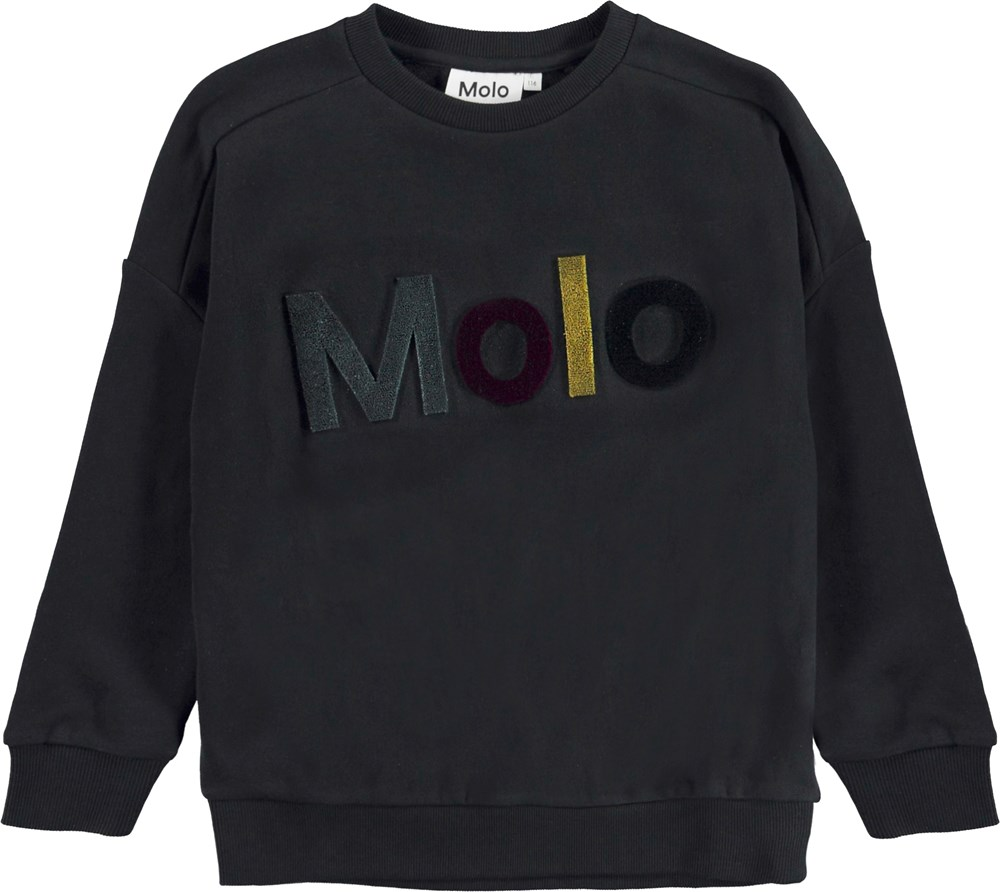 Mandy - Black - Sort sweatshirt.