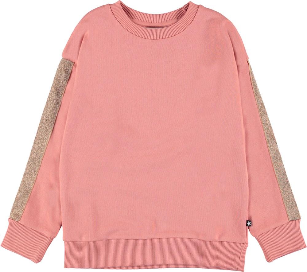 Manon - Rosewater - Rosa sewatshirt med stribe.