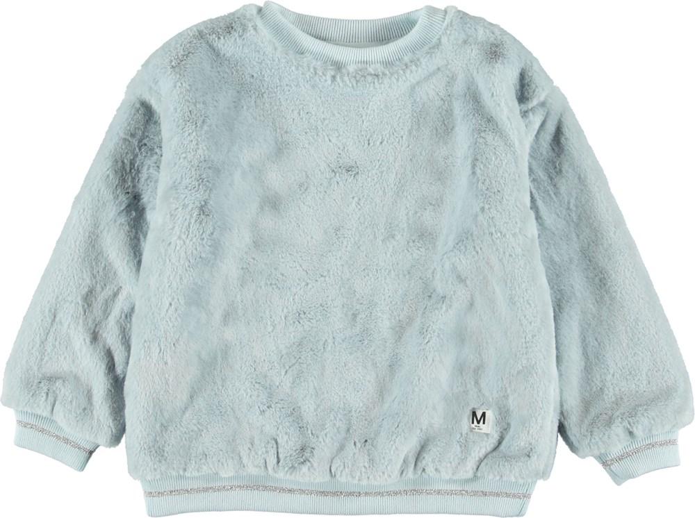 Mariana - Iced Blue - Blød sweatshirt i blå.
