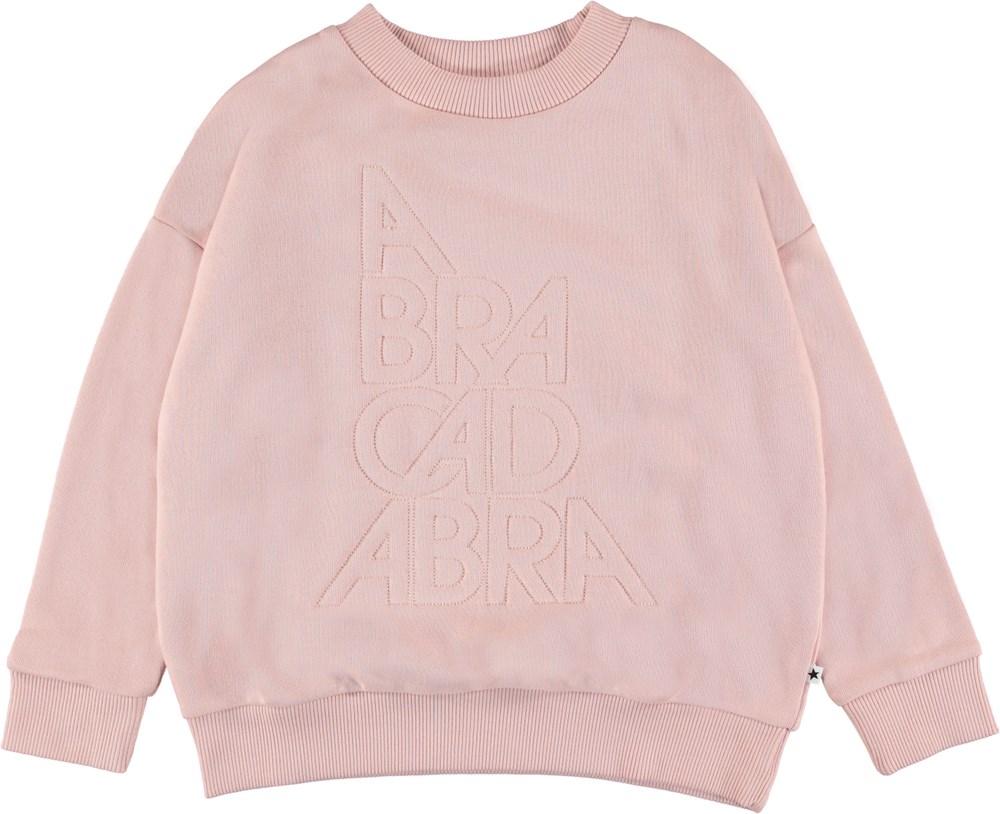 Maxi - Abracadabra - Lyserød sweatshirt med 'Abracadabra'