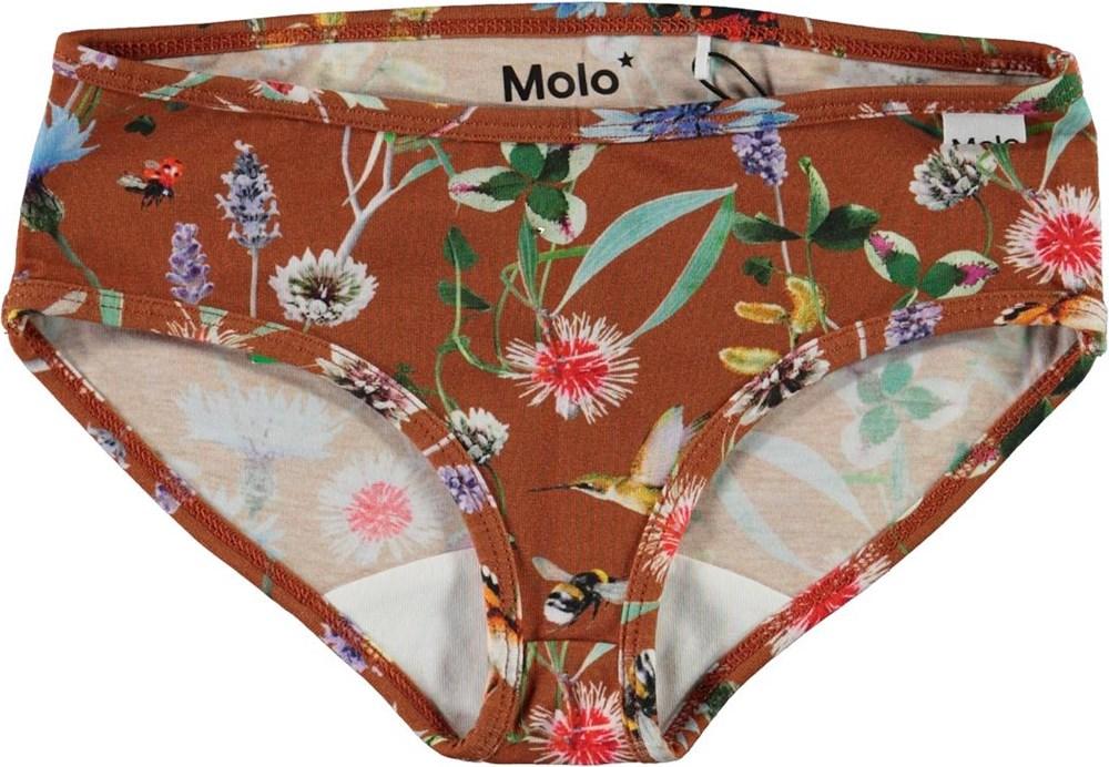 Jane - Wildflowers - Økologiske underbukser med blomster print
