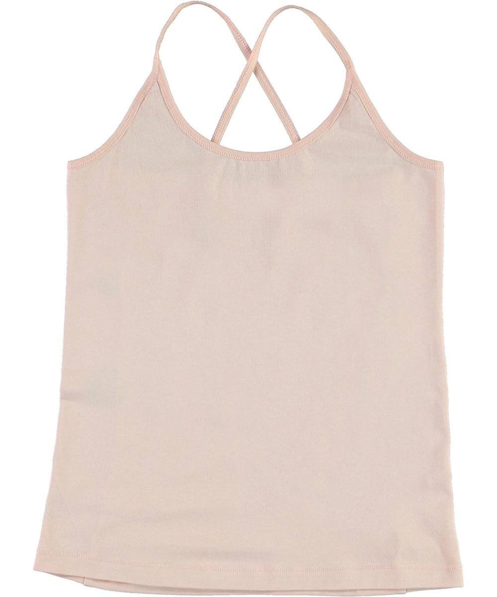 Janis - Petal Blush - Økologisk rosa top med krydsede stropper