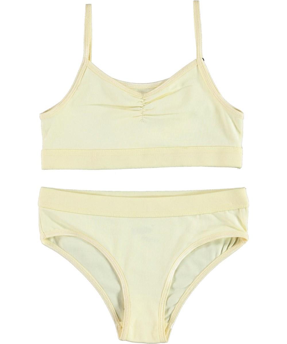 Jinny - Marzipan - Økologisk lysegult undertøjs sæt