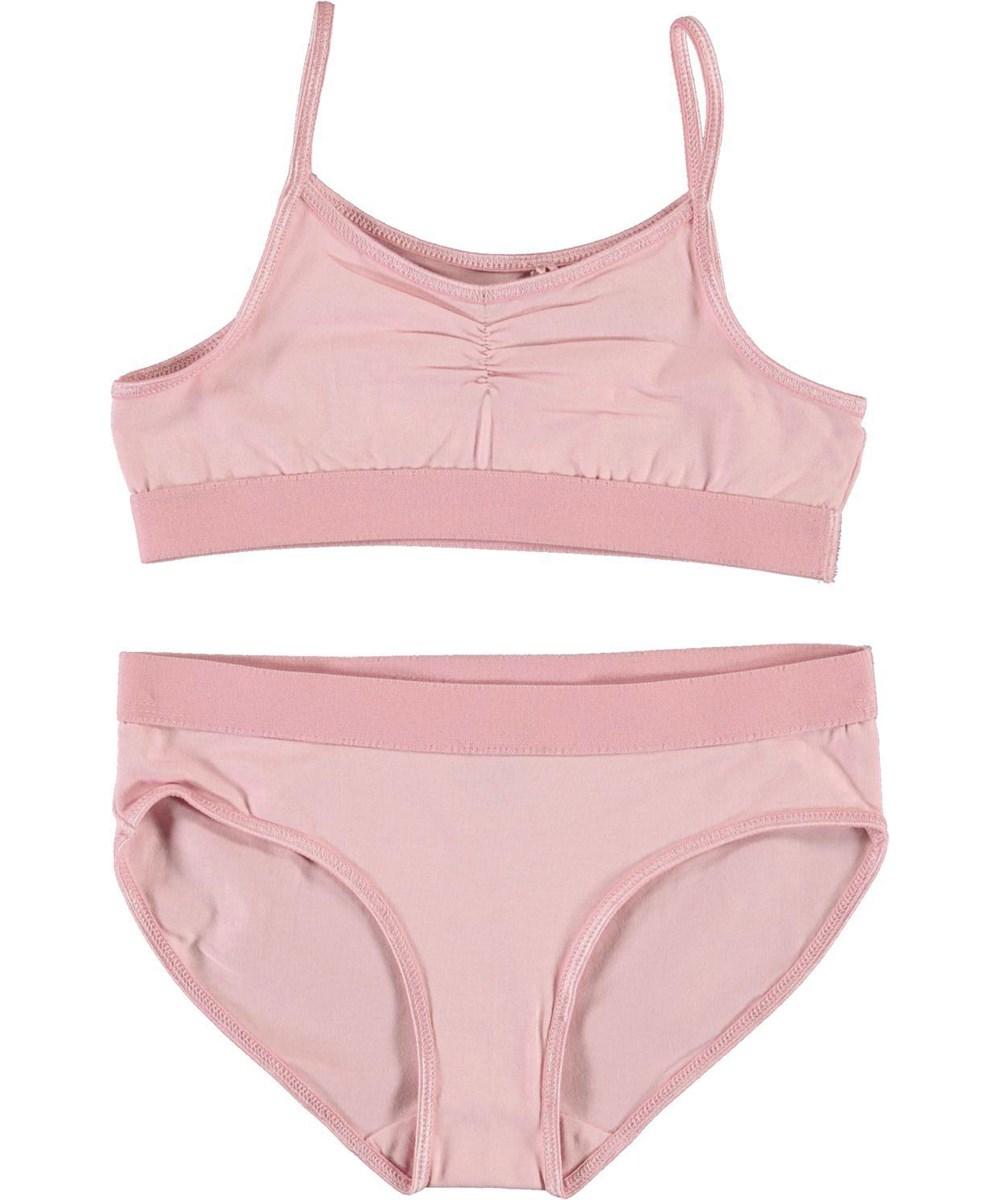 Jinny - Rosequartz - Økologisk rosa undertøjssæt