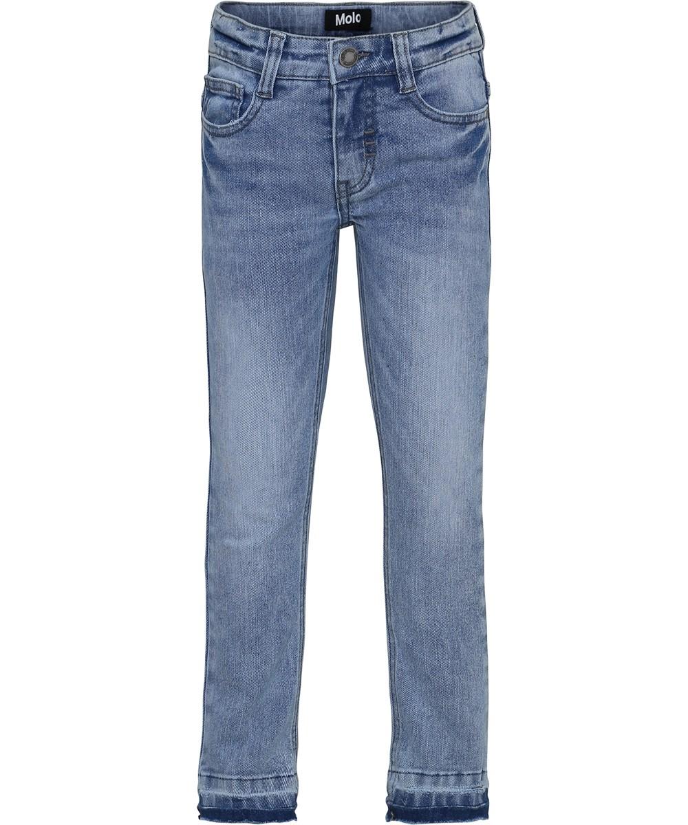 Aksel - Ash Blue - Blå slim denim jeans.