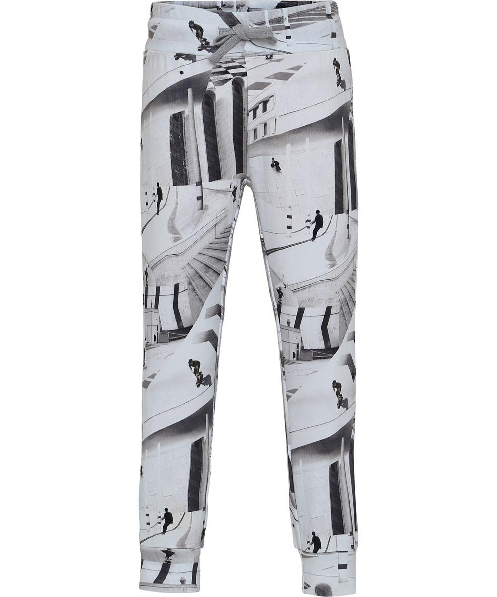 Alcan - City Skate - Sweatpants med tryck av skateboardåkare.