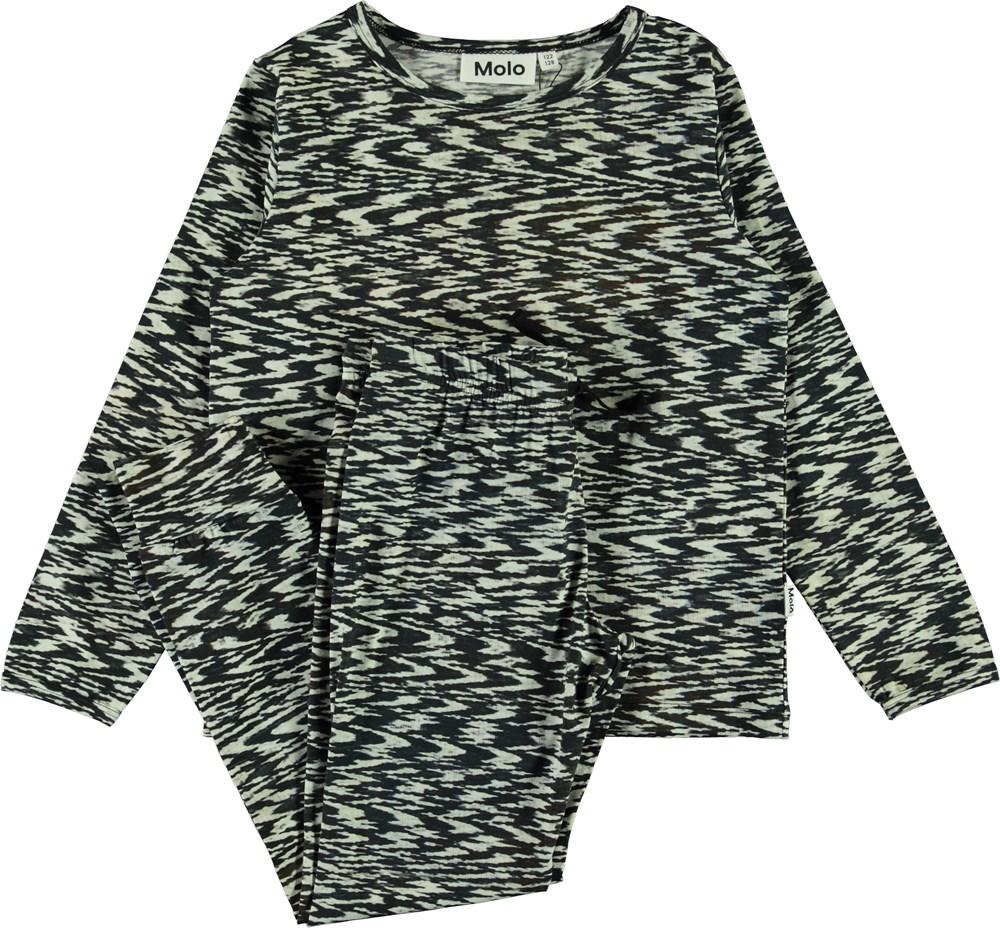 Luve - Interference - Ekologiskt svart och vitt pyjamasset