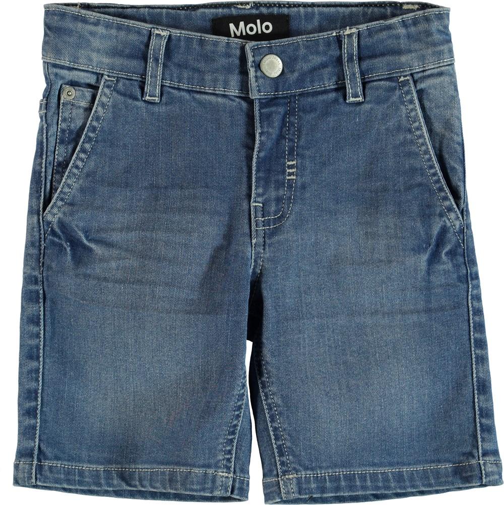 Asser - Blue Denim - Shorts