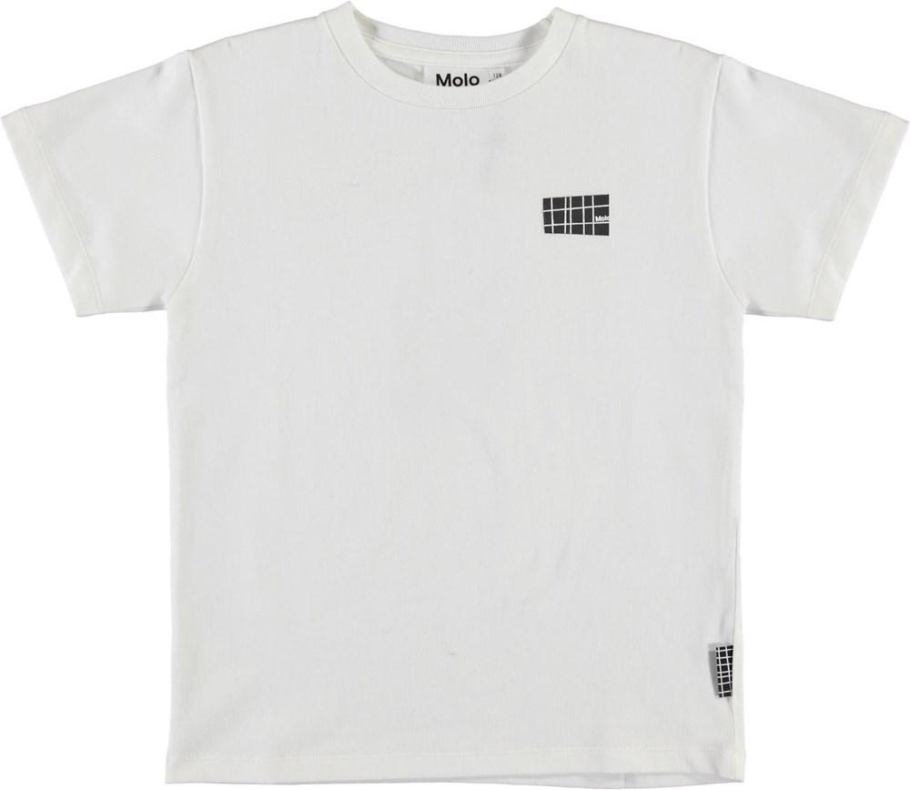 Rasmus - White - Ekologisk vit t-shirt