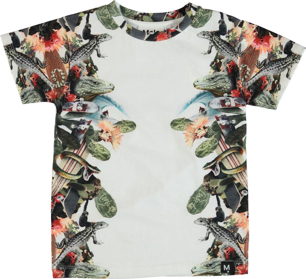 Raul - Tropical Fever - T-shirt med tropiskt tryck