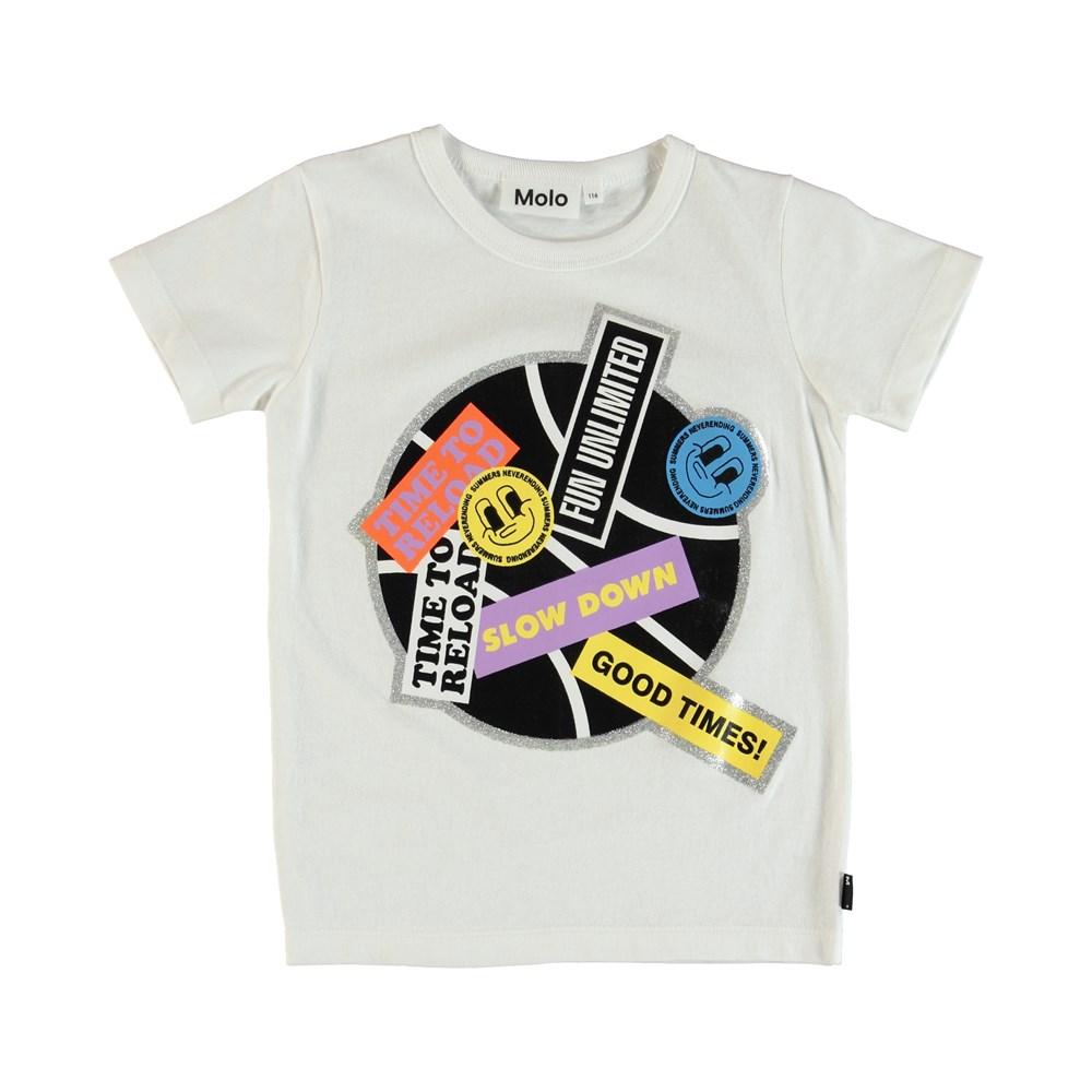Ravento - White - T-Shirt - Vit
