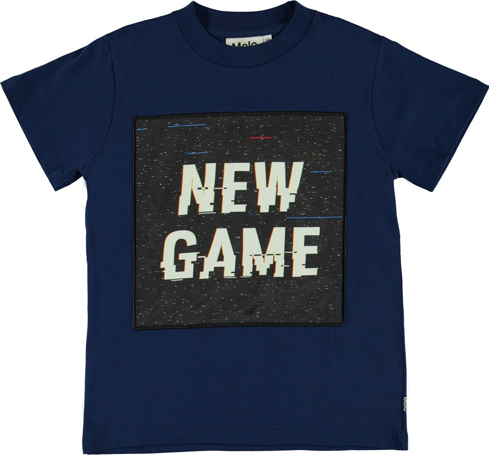 Road - New Game - Blå new game t-shirt