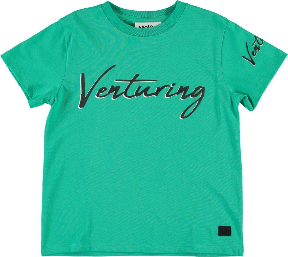 Roxo - Lagoon - Blå grön t-shirt med text
