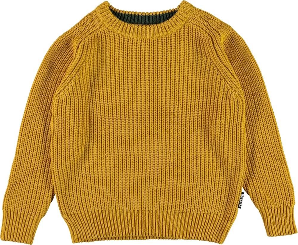 Bosse - Nugget Gold - senapsgul stickad tröja