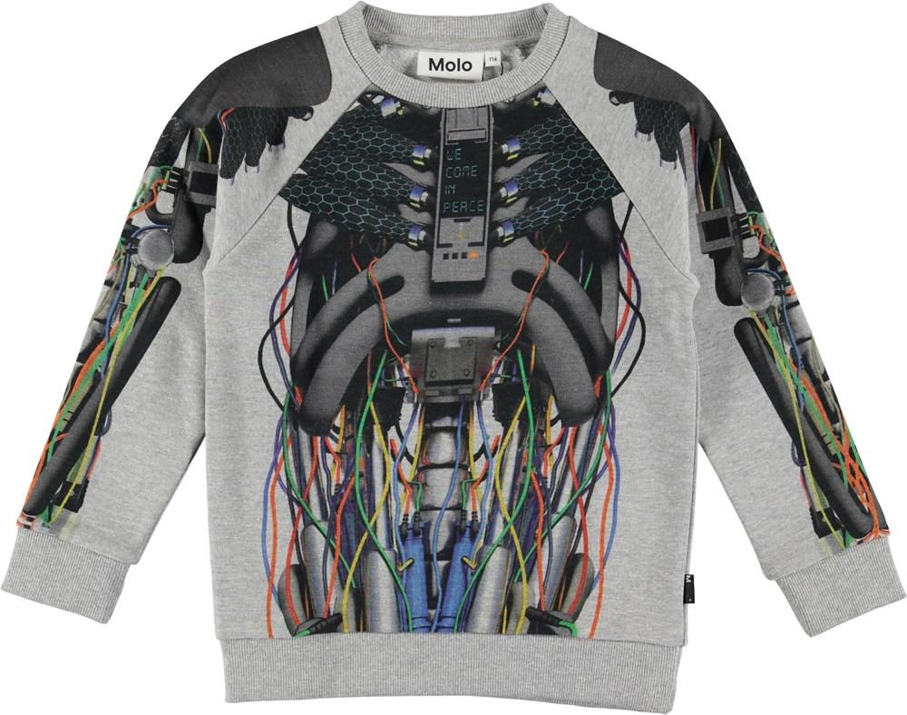 Marx - Cyborg - Sweatshirt med robot tryck.