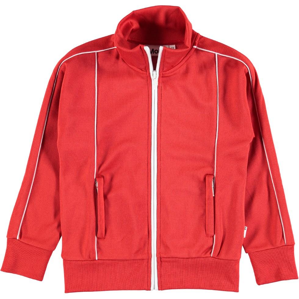 Moby - Heart - Röd track sweatshirt med dragkedja