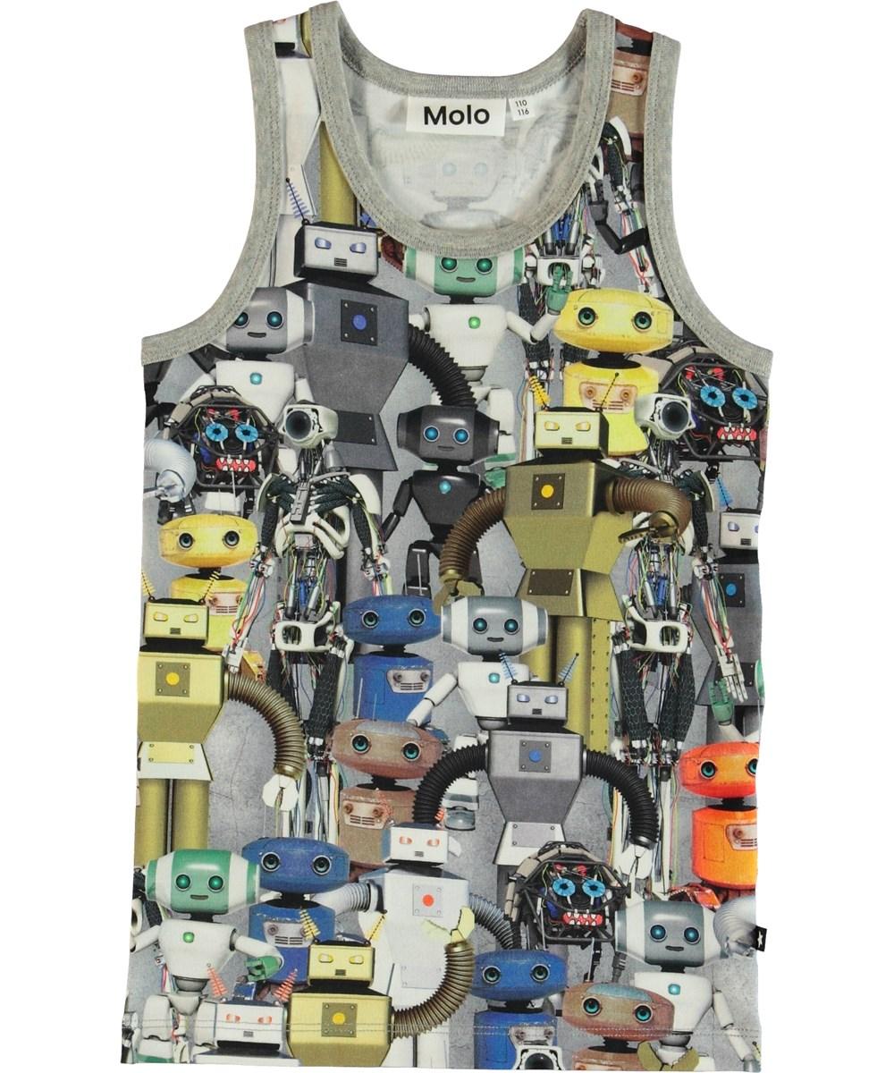 Jim - Robots - Linne med tryck av robotar.