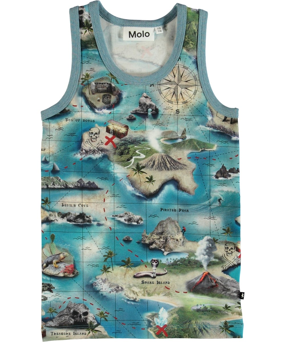 Jim - Treasure Map - Tanktop - S