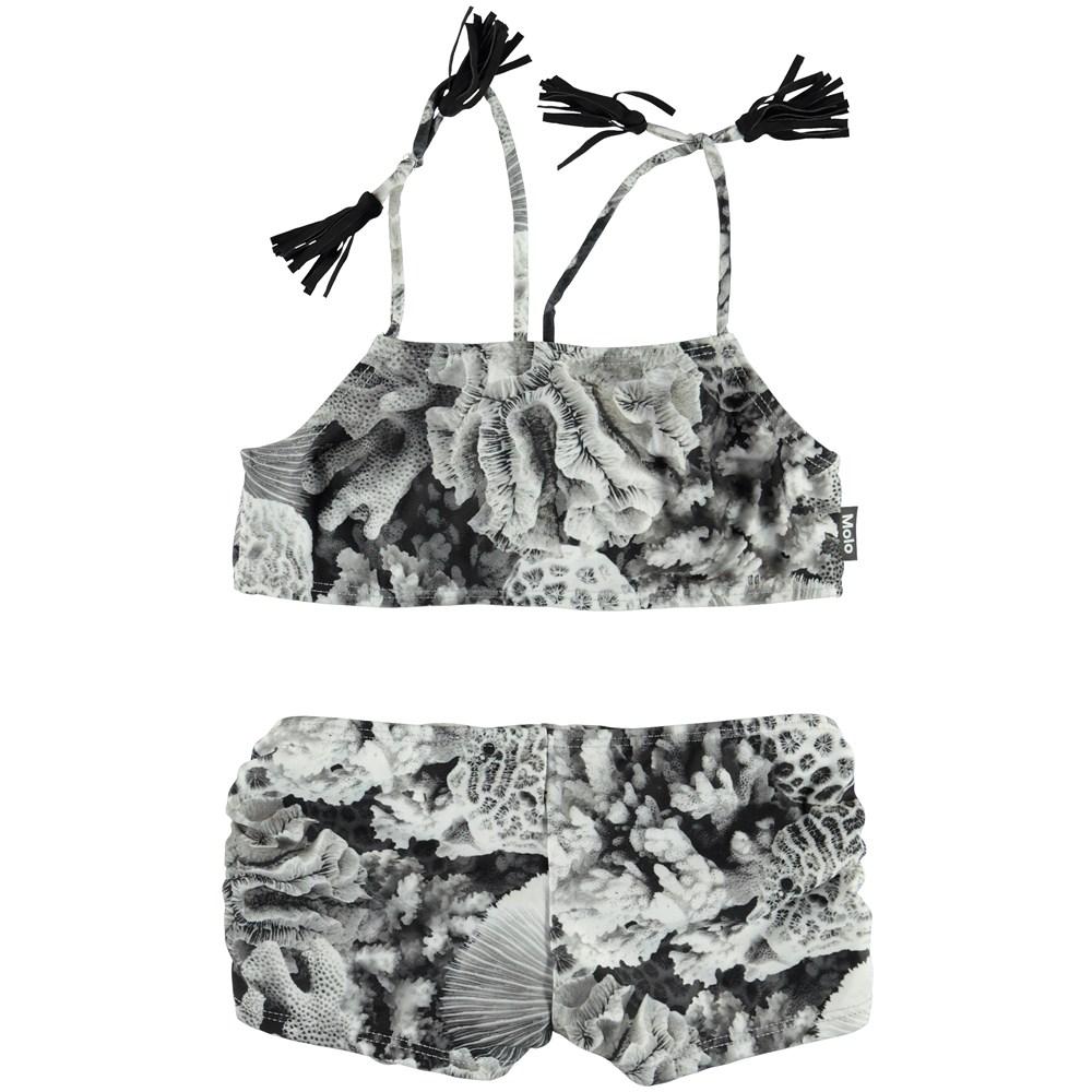 Nadetta - Corals - Bikini with coral and tassels.