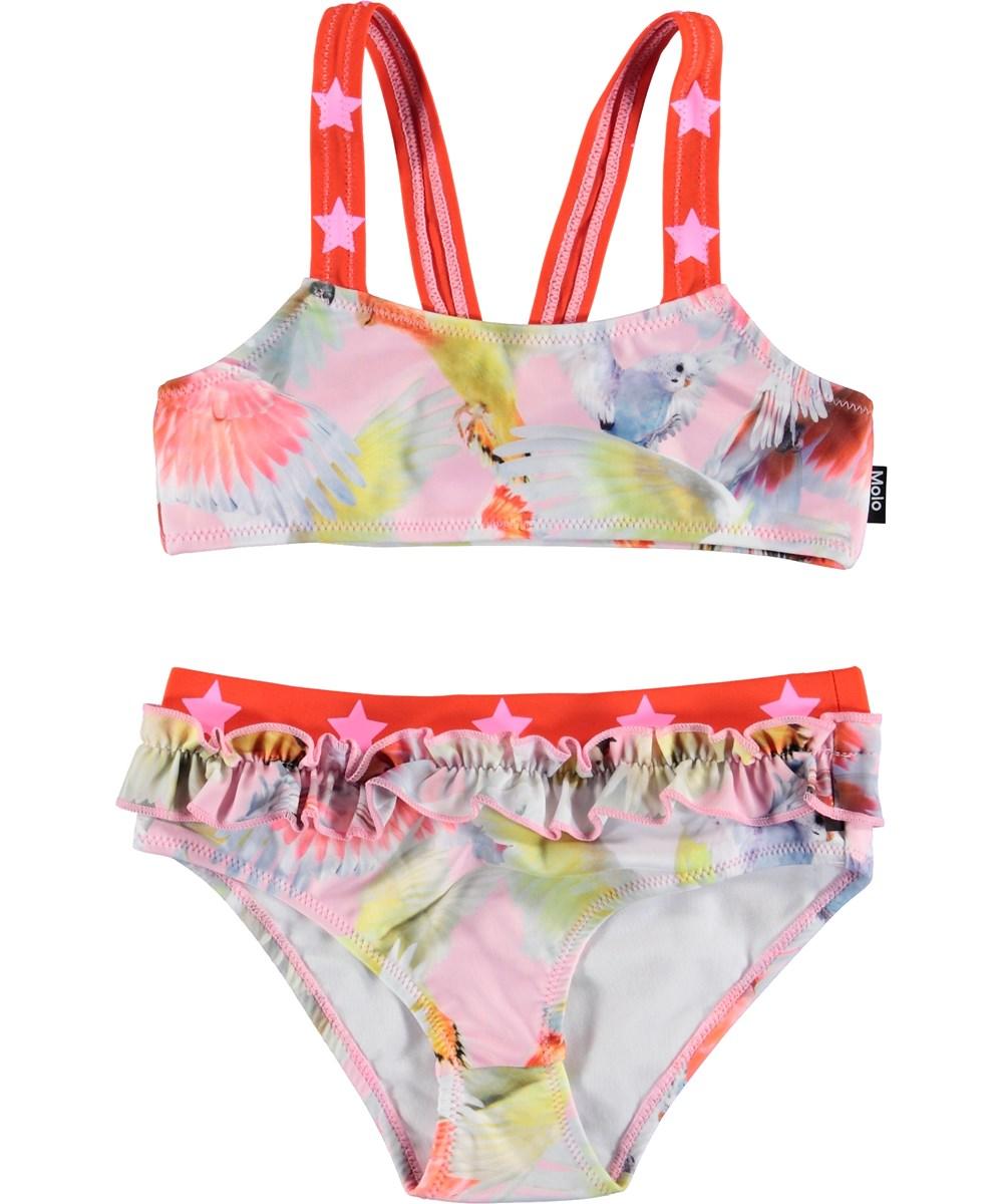 Naila - Cockatoos - UV bikini with parrot print.