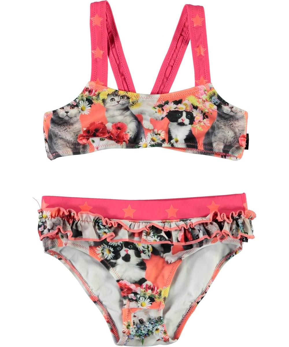 Naila - Flower Power Cats - UV bikini with cats and flowers