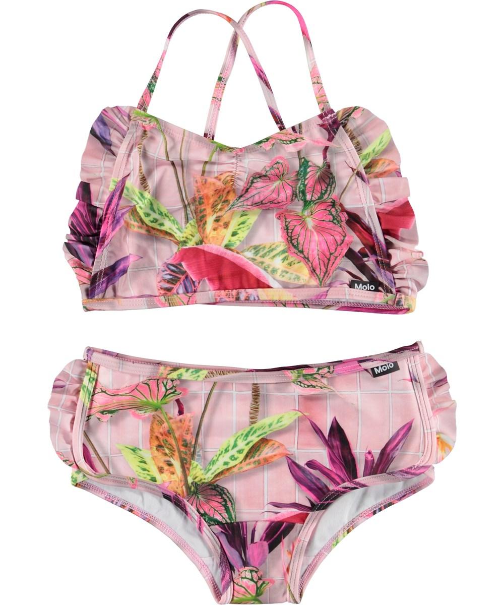 Nanda - Tiles - Pink UV bikini with flowers