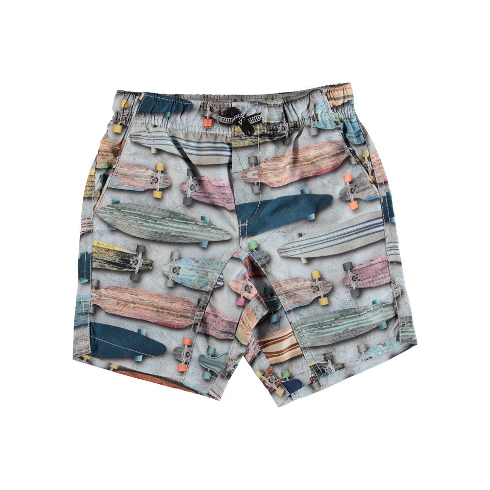 Nario - Board Stripe - Swim trunks with back pocket