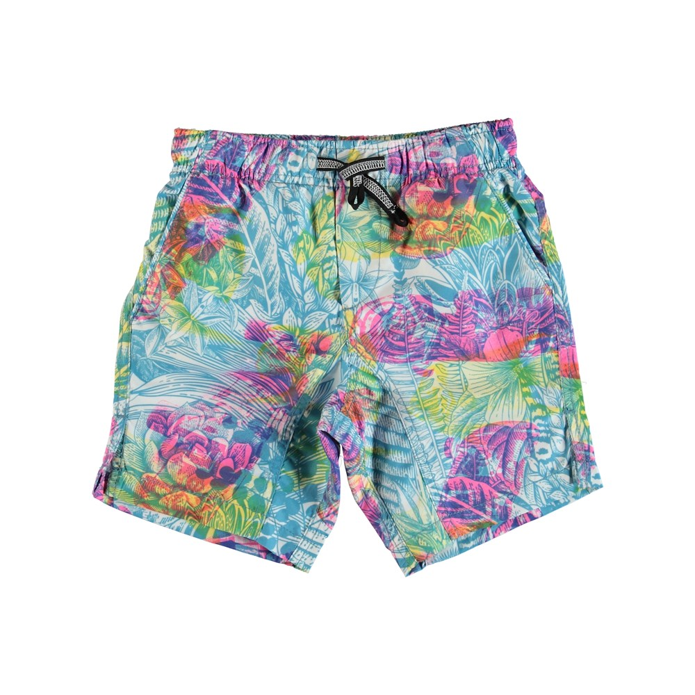 Nario - Illuminations - Swim trunks with colour filter print.