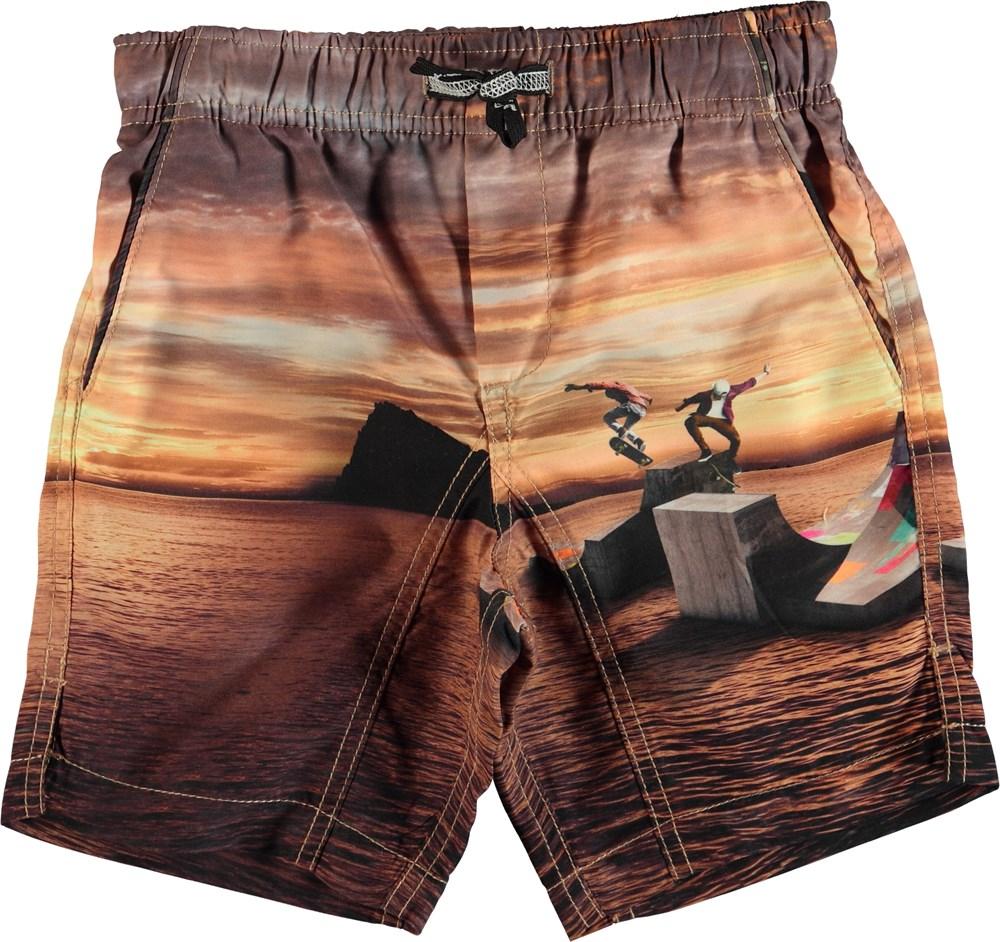 Nario - Sunset Skate - Swim trunks with back pocket