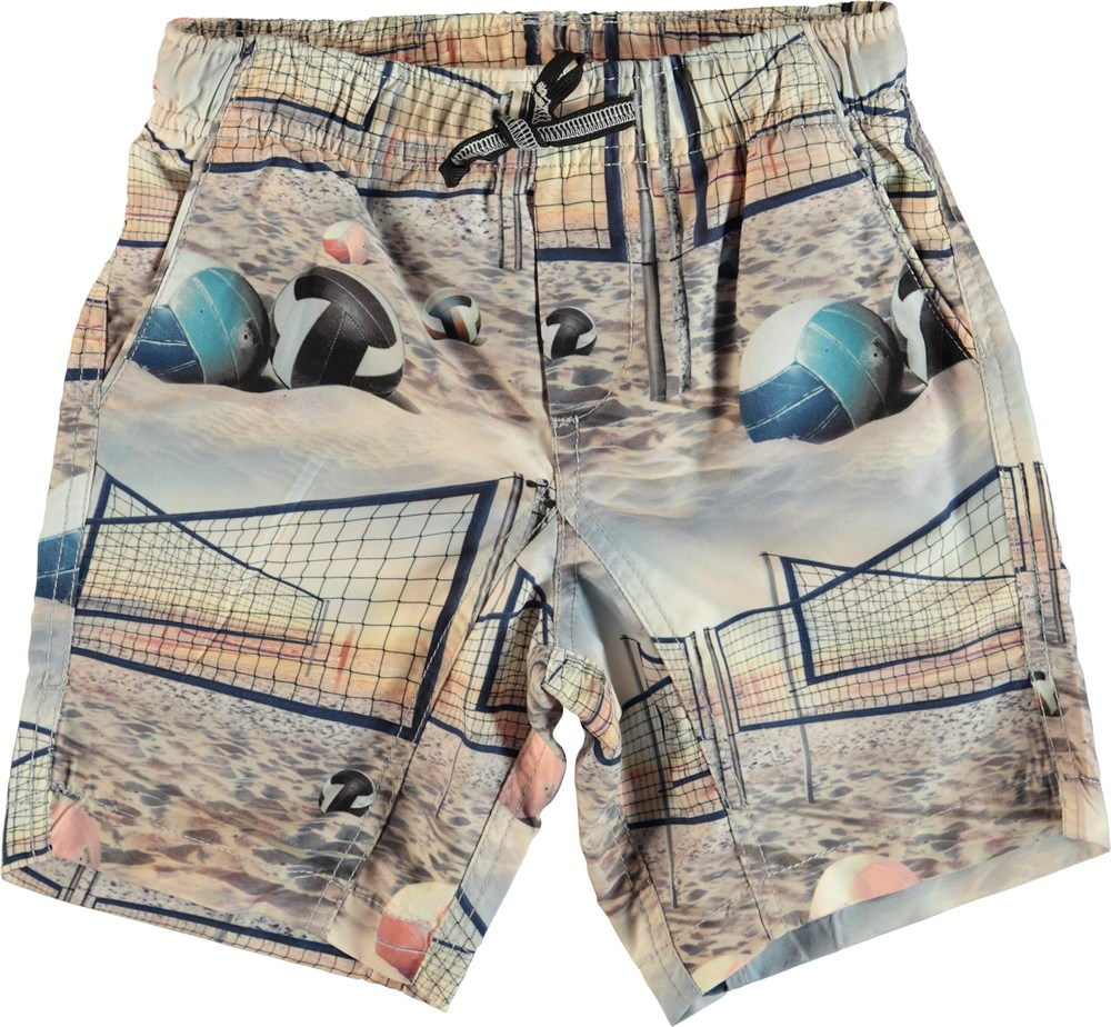 Nario - Volleyball Sunset - Swim trunks with volley print.
