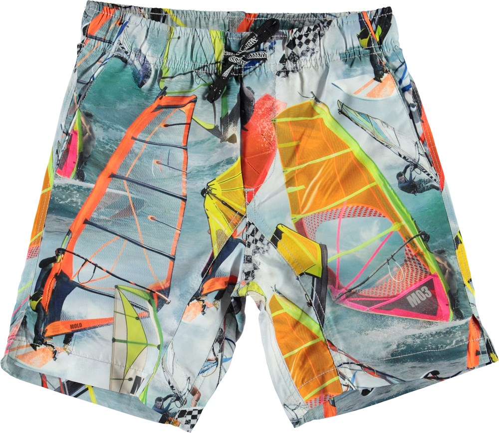 Nario - Windsurfers - UV swim trunks with windsurfers print