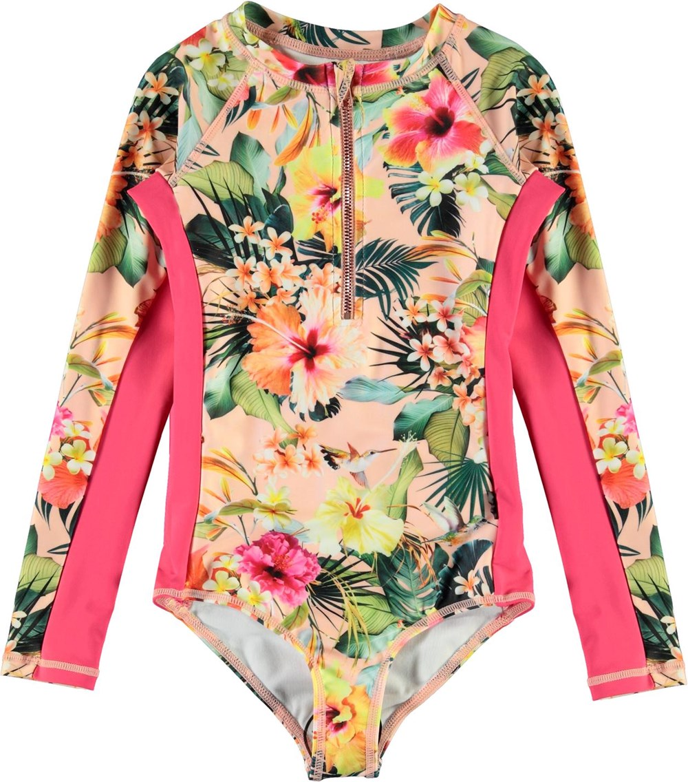 Necky - Hawaiian Flowers - UV swimsuit with floral print