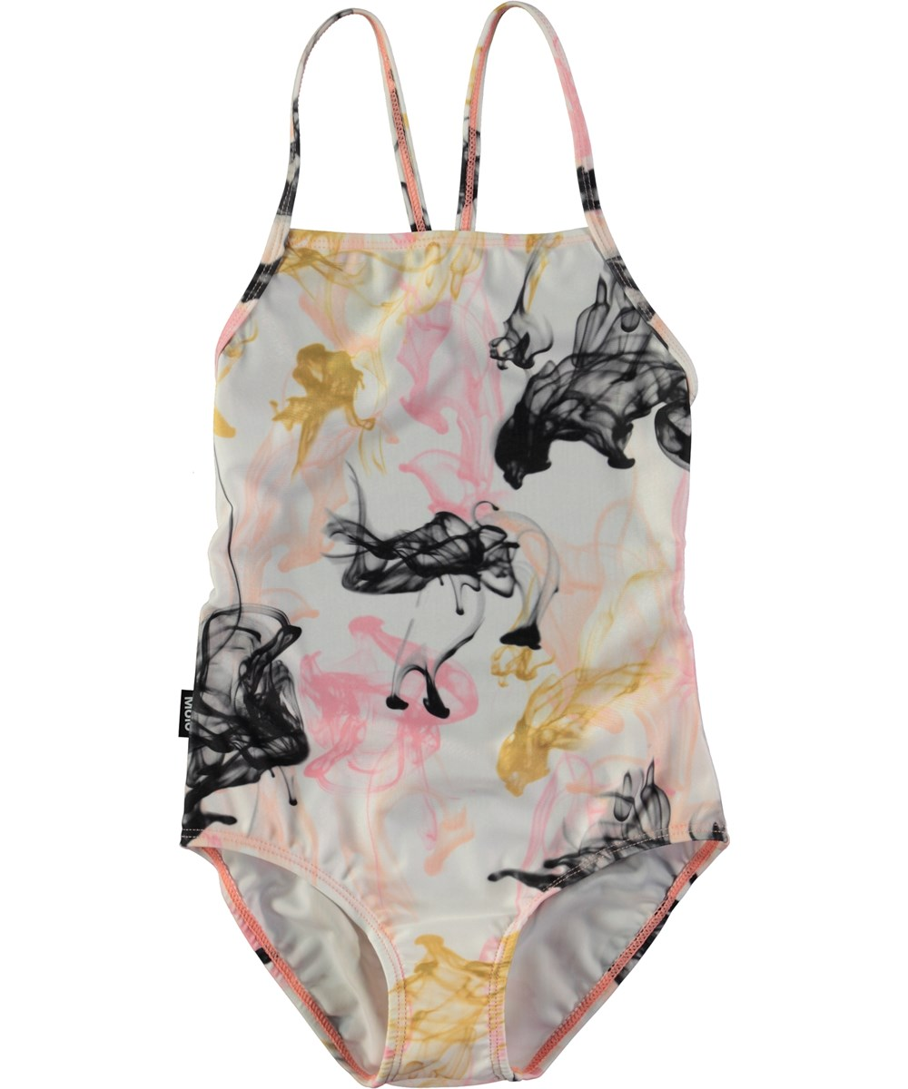381bcb26cdb Neda - Ink - Swimsuit with thin straps and digital ink print - Molo