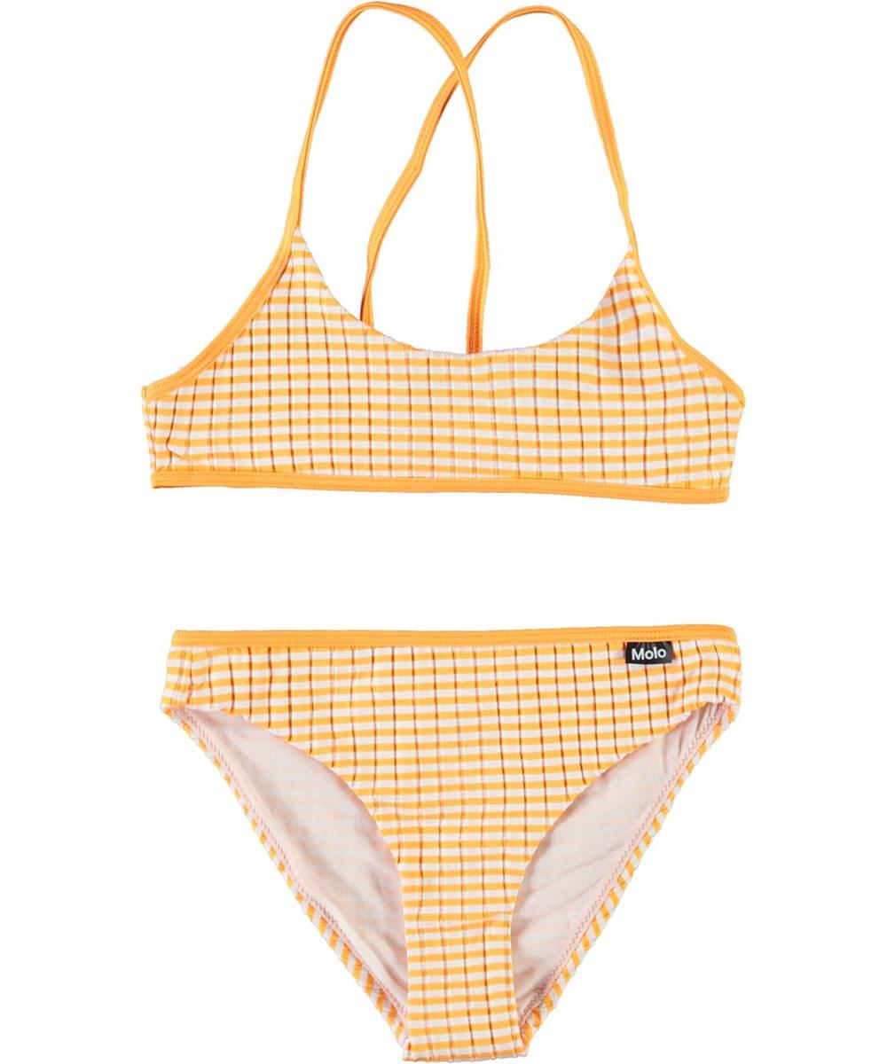 Neddy - Orange Stripe - Sporty orange and white striped bikini
