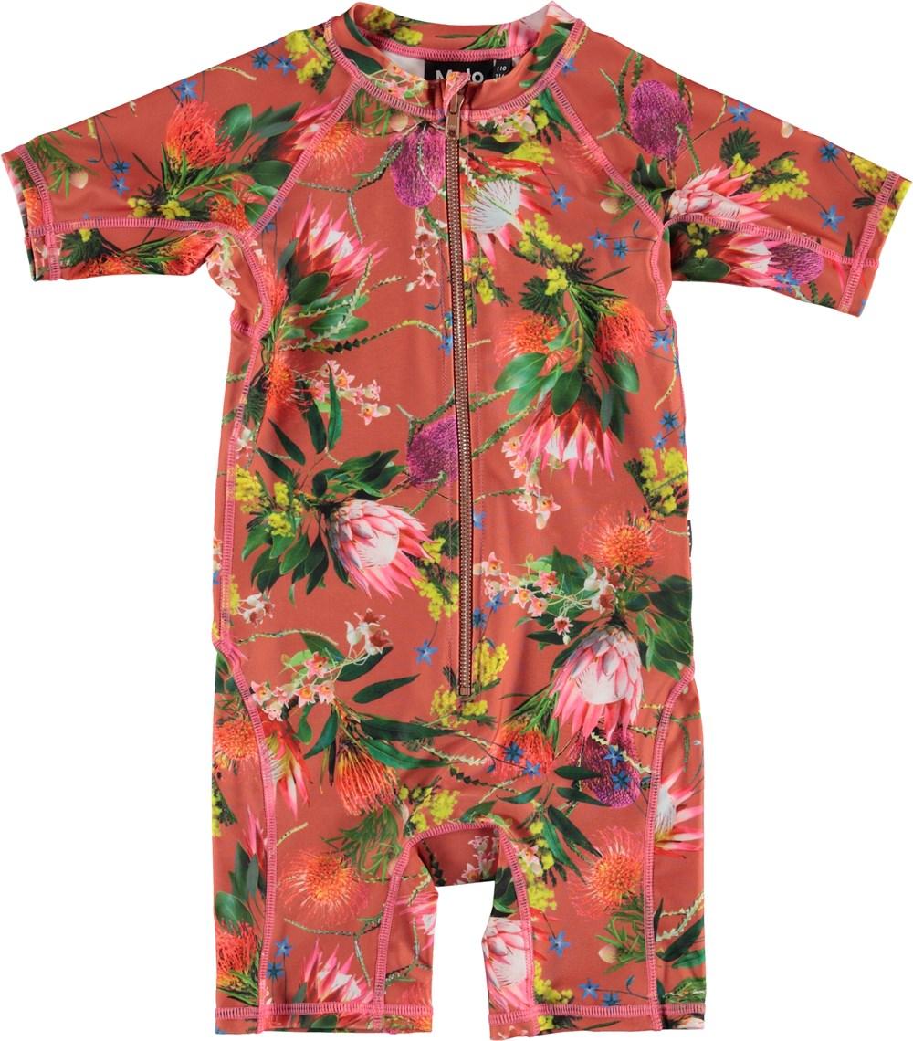 Neka - Australian Flowers - UV swimsuit with flower print