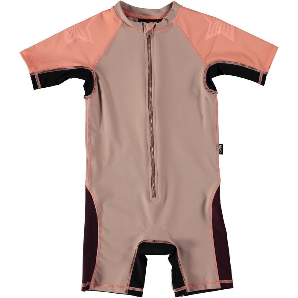 Neka Block - Rose Sand - Colour block swimsuit