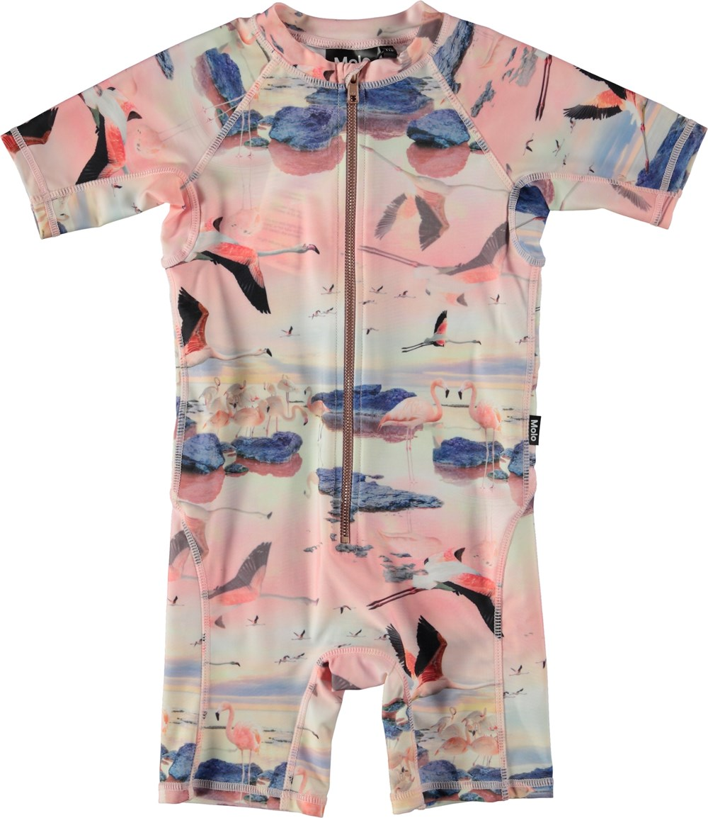 Neka - Flamingo - UV swimsuit with flamingos.