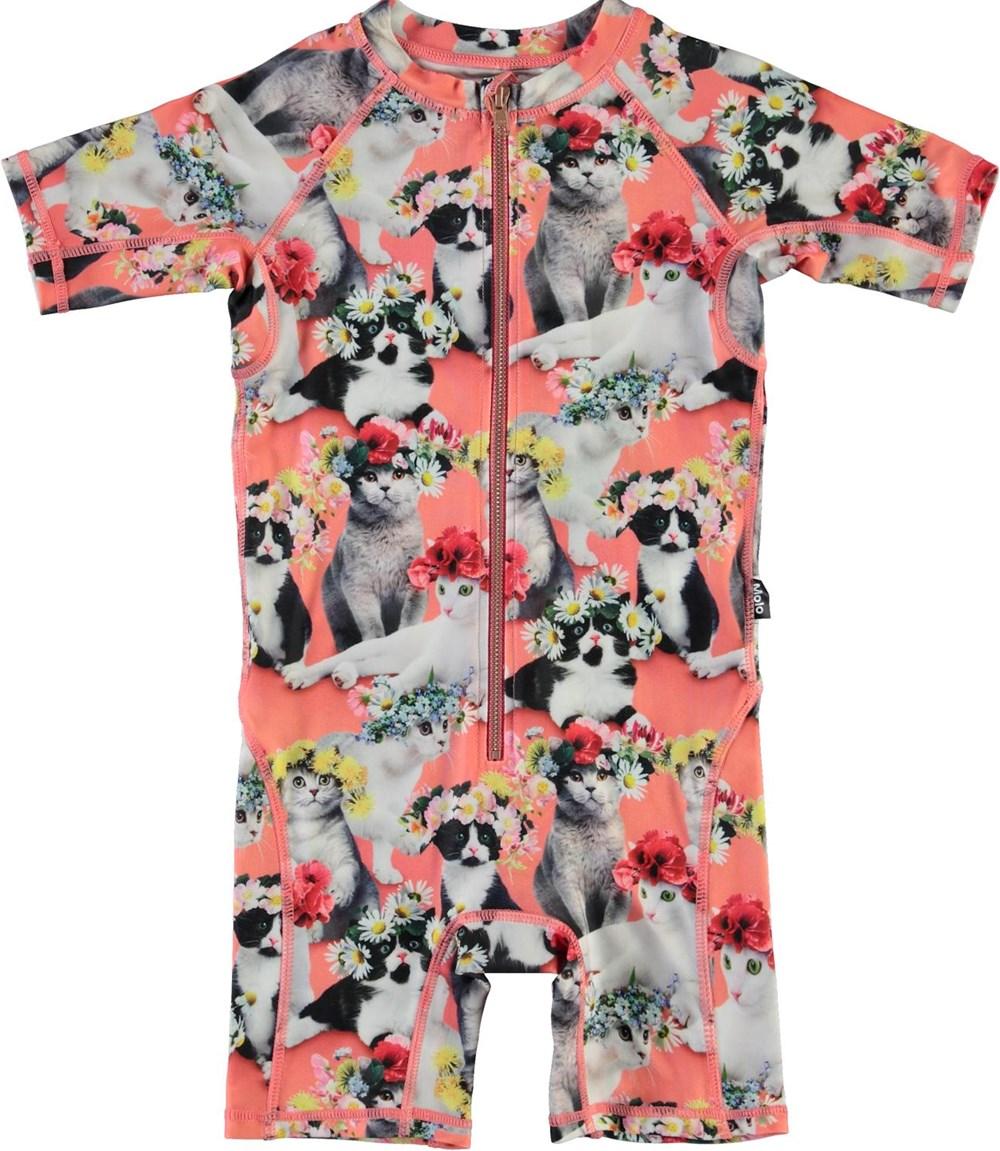 Neka - Flower Power Cats - UV swimsuit with cat print
