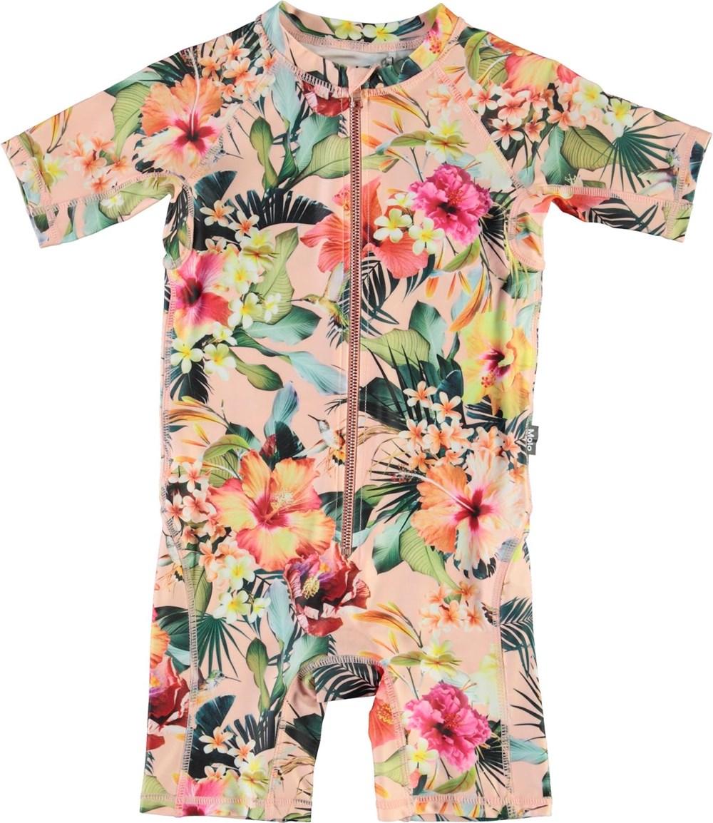 Neka - Hawaiian Flowers - UV swimsuit with floral print