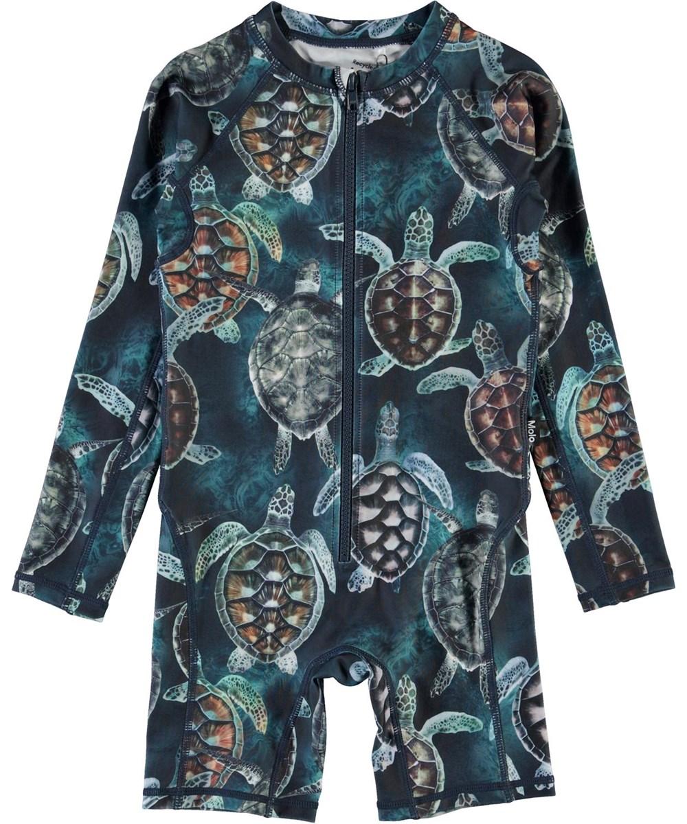 Neka LS - Sea Turtles - UV swimsuit with turtle print
