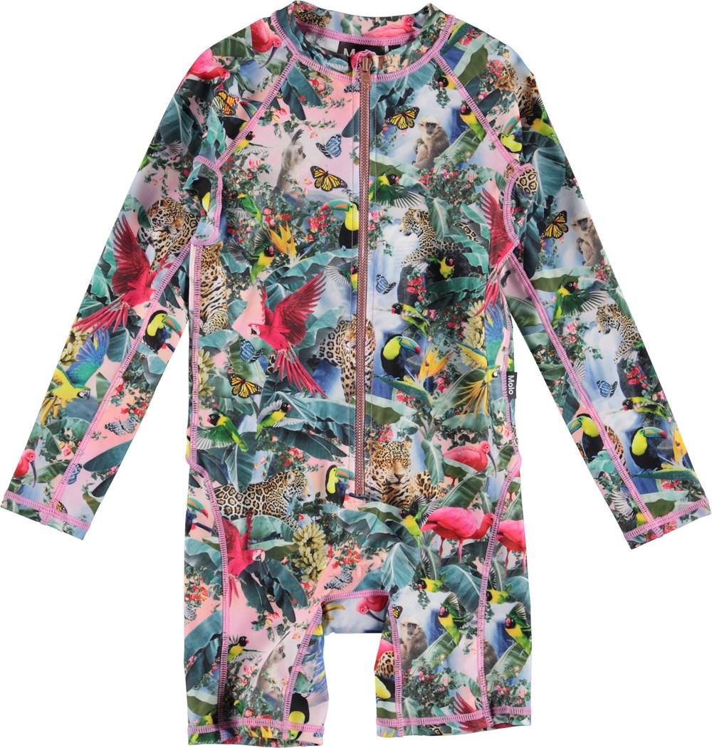 Neka LS - Wild Amazon - UV swimsuit with animals