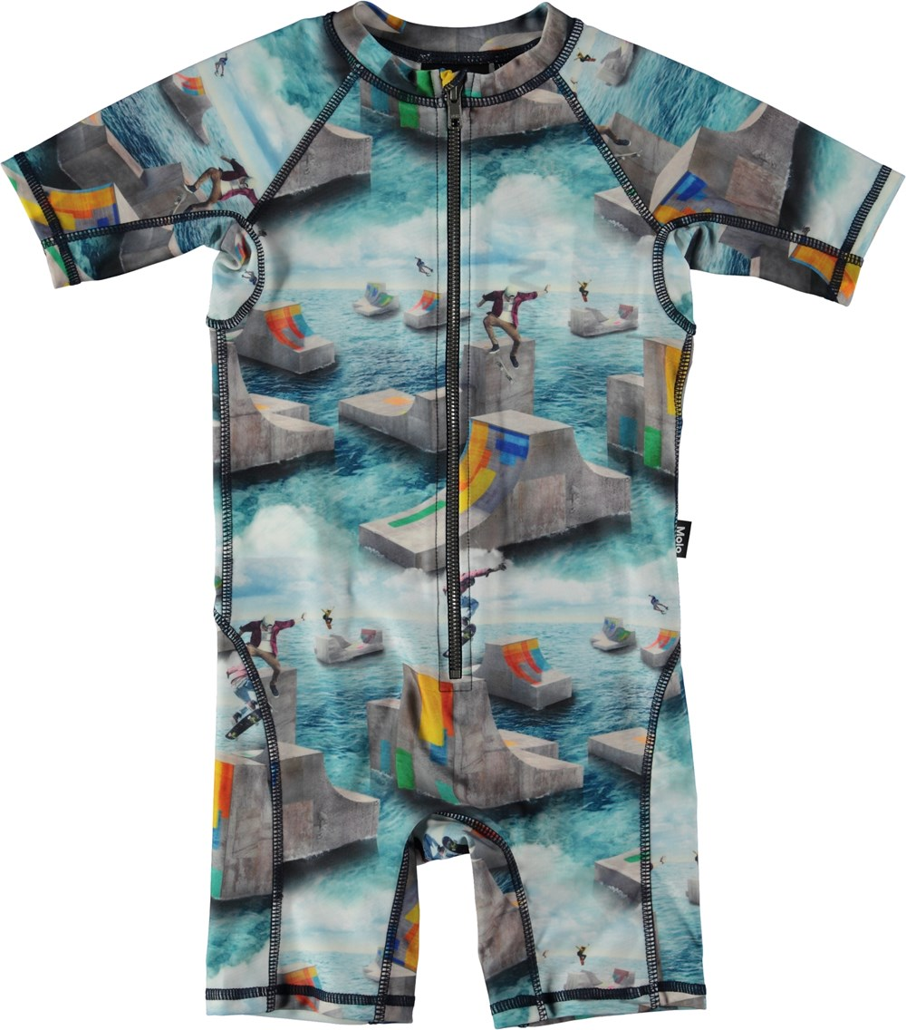 Neka - Ocean Skate - Swimsuit with skater print