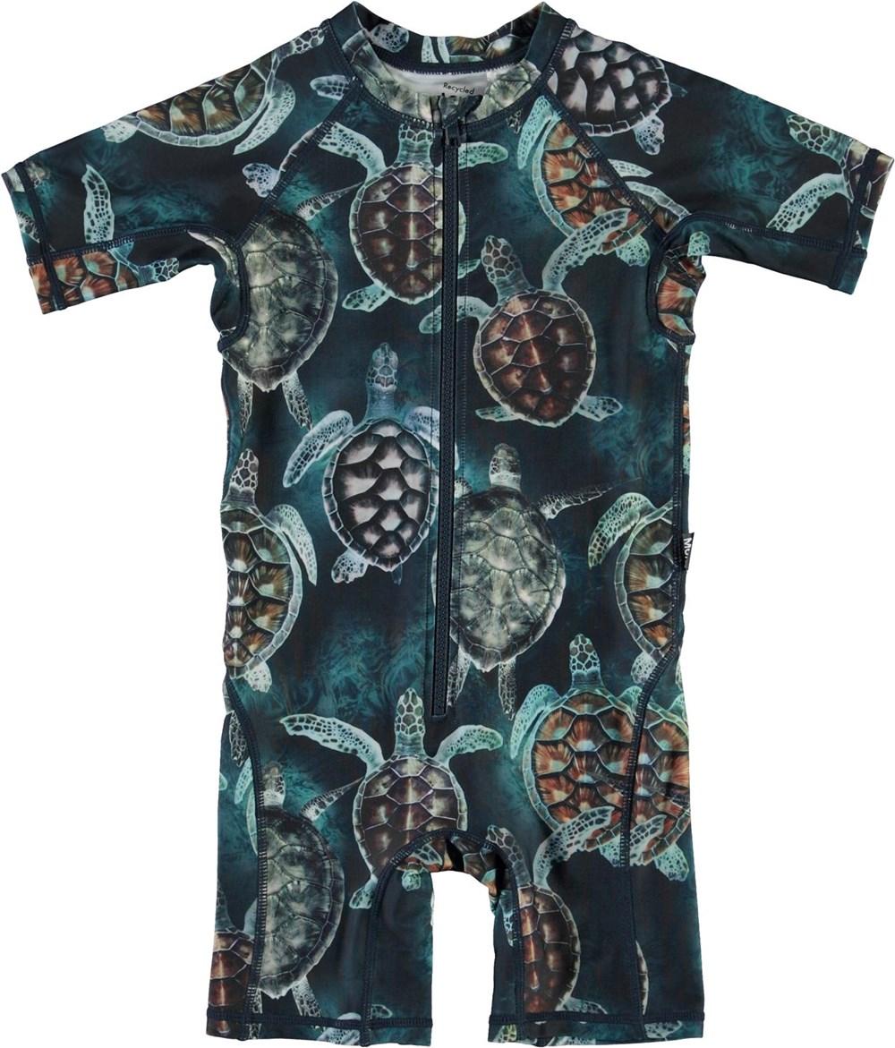 Neka - Sea Turtles - UV swimsuit with turtle print