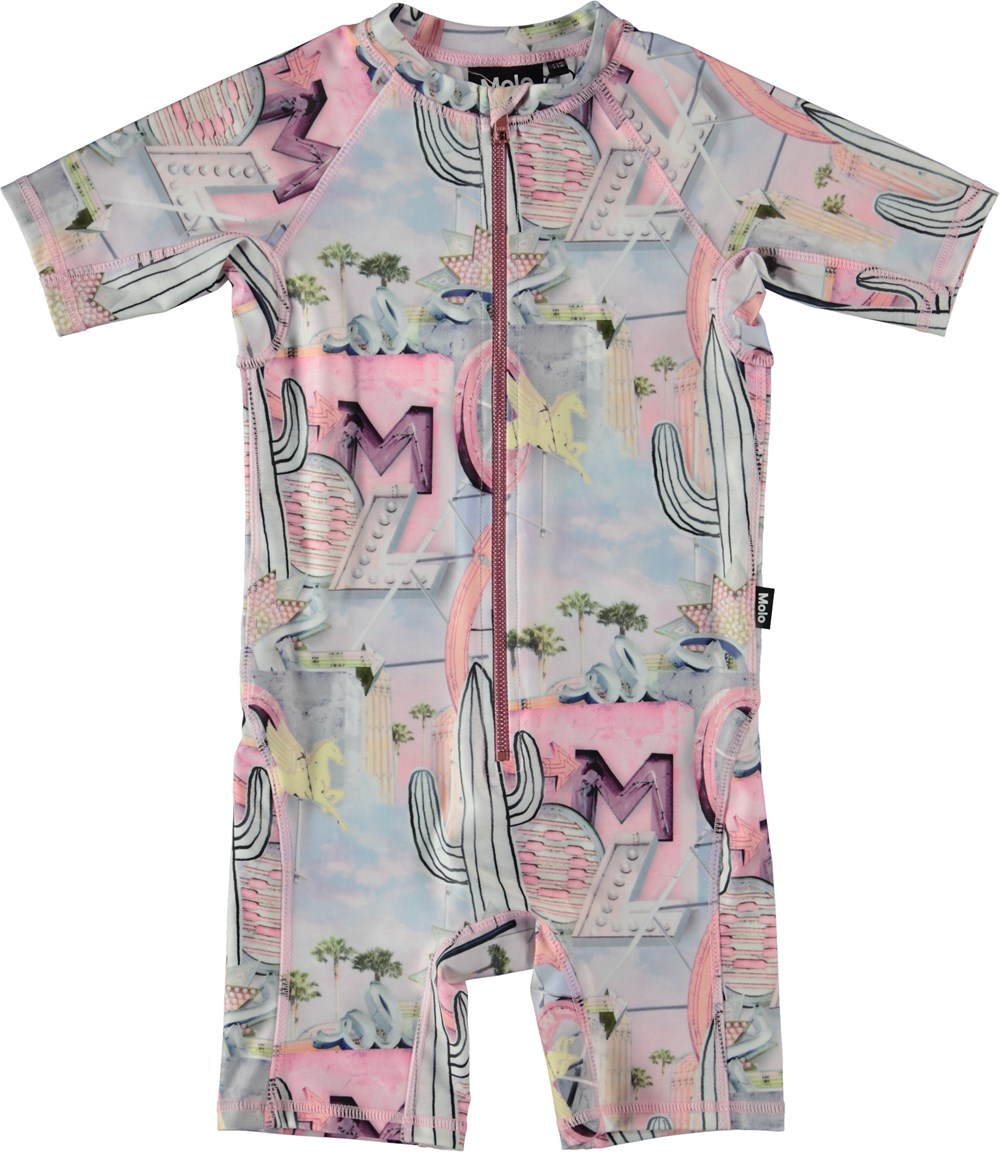 Neka - Signs - Swimsuit with pastel coloured print