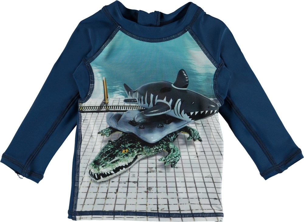 Nemo - Pool Side - Baby UV rashguard with pool animals