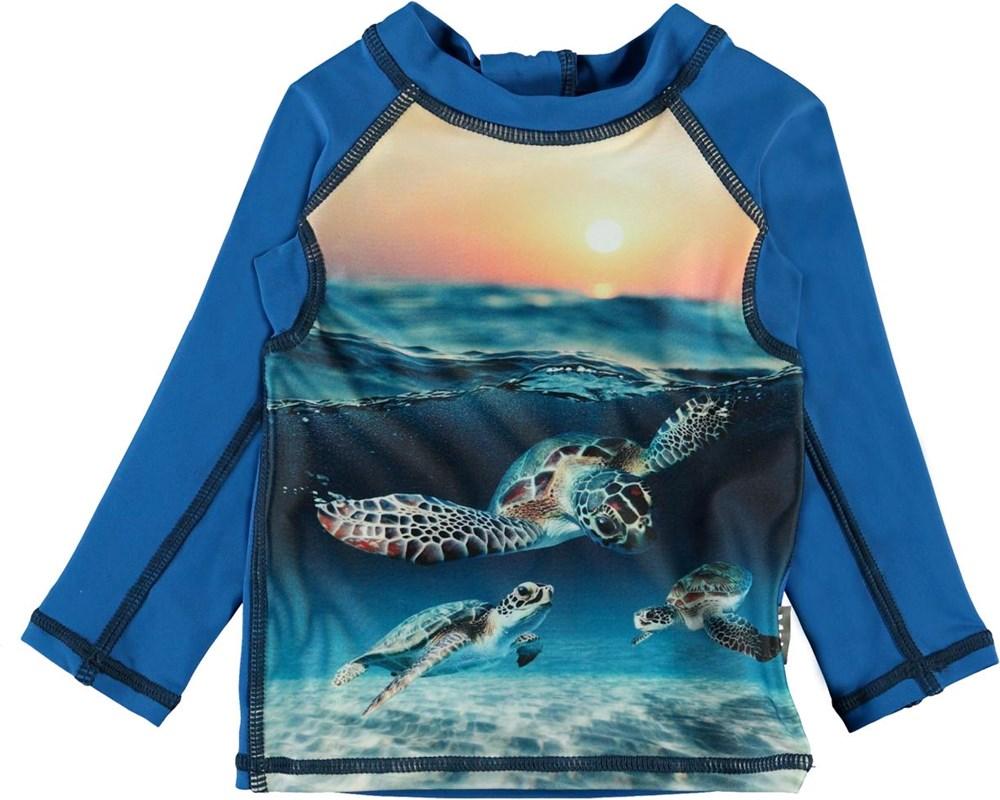 Nemo - Sea Turtle Sunset - UV baby rashguard with turtles