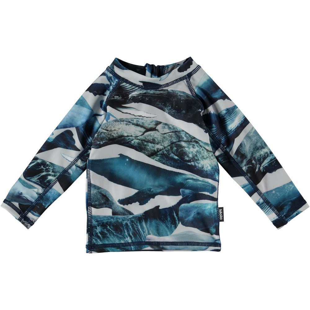 Nemo - Whales - Baby rash guard with whales
