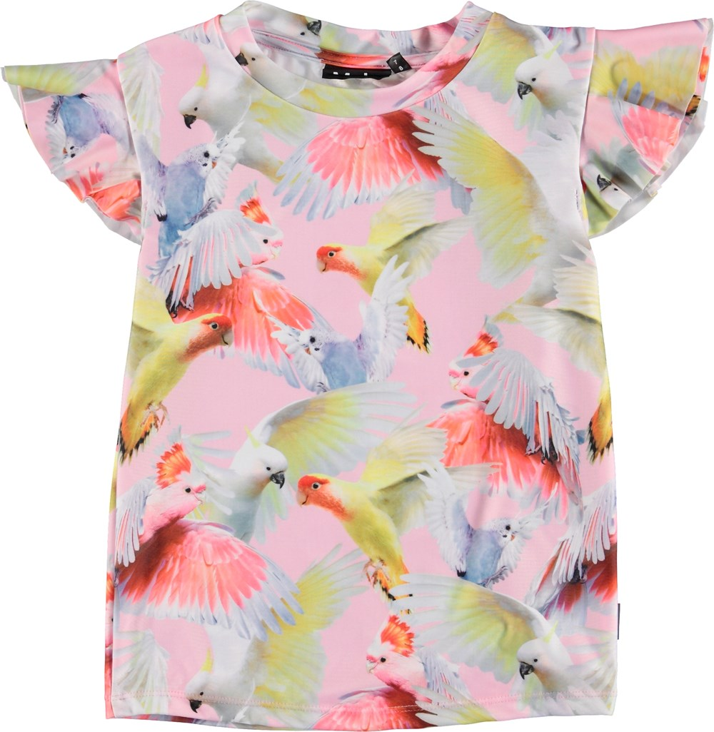 Neona - Cockatoos - UV rashguard with parrot print