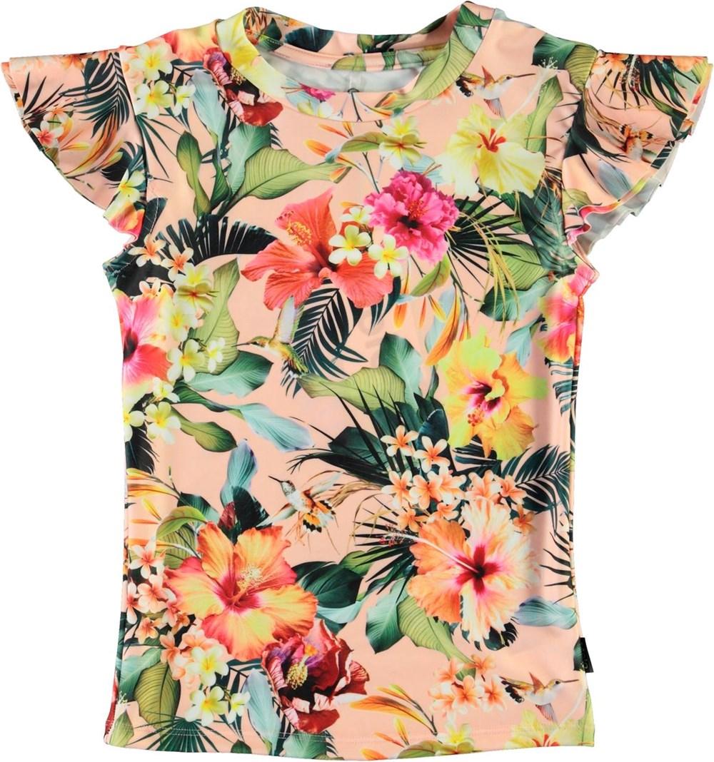 Neona - Hawaiian Flowers - UV rashguard with floral print